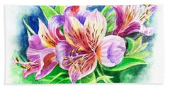 Peruvian Princess Lily Bath Towel