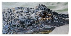 Pete The Alligator Hand Towel by Kenneth Albin