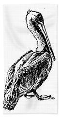 Pete The Pelican Bath Towel