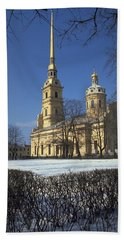 Hand Towel featuring the photograph Peter And Paul Cathedral by Travel Pics