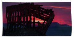 Peter Iredale Shipwreck Bath Towel