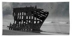 Peter Iredale Shipwreck At Oregon Coast Hand Towel