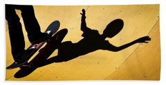 Peter Pan Skate Boarding Bath Towel