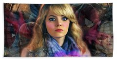 Hand Towel featuring the digital art Peter Parker's Haunting Memories Of Gwen Stacy by Barbara Tristan