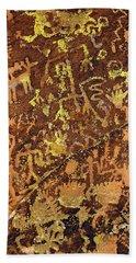 Petroglyph Records Bath Towel by Phyllis Denton