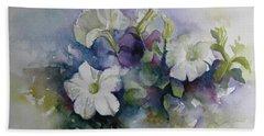 Petunias In Summer Bath Towel by Elena Oleniuc