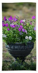 Petunias In The Chico Hand Towel