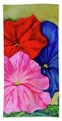 Petunias Mixed Bath Towel