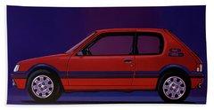 Peugeot 205 Gti 1984 Painting Bath Towel