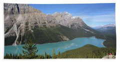 Peyto Lake Hand Towel by Keith Boone