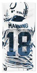 Peyton Manning Indianapolis Colts Pixel Art Hand Towel