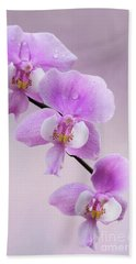 Phalaenopsis Schilleriana Fragrant Butterfly Orchid V2 Bath Towel