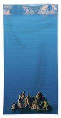 Phantom Ship Island Crater Lake National Park Oregon 2 Bath Towel