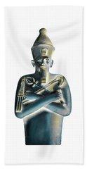 Hand Towel featuring the digital art Pharaoh by Elizabeth Lock