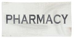 Pharmacy Sign- Art By Linda Woods Hand Towel