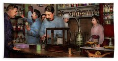 Bath Towel featuring the photograph Pharmacy - The Dispensing Chemist 1918 by Mike Savad
