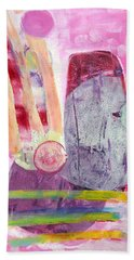 Bath Towel featuring the painting Phases by Mary Schiros