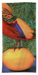 Pheasant On A Lemon Hand Towel