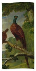 Pheasants Hand Towel