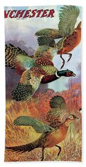 Pheasants On The Rise Hand Towel
