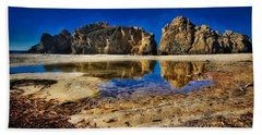 Hand Towel featuring the photograph Pheiffer Beach #15 - Big Sur, Ca by Jennifer Rondinelli Reilly - Fine Art Photography