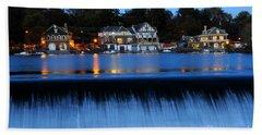 Philadelphia Boathouse Row At Twilight Bath Towel