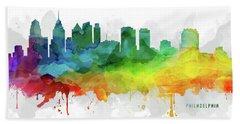 Philadelphia Skyline Mmr-uspaph05 Hand Towel by Aged Pixel