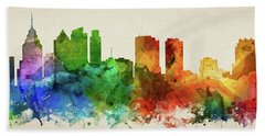 Philadelphia Skyline Panorama Uspaph-pa03 Hand Towel by Aged Pixel