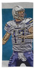 Philip Rivers San Diego Chargers Art Hand Towel