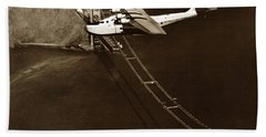 Philippine Clipper A Pan Am Clipper Over The Golden Gate Bridge  1935 Hand Towel