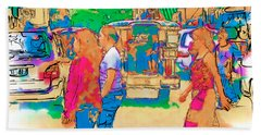 Philippine Girls Crossing Street Bath Towel