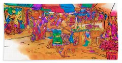 Philippine Open Air Market Bath Towel