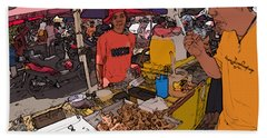 Philippines 1299 Street Food Bath Towel