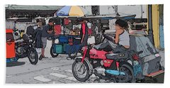 Philippines 673 Street Food Bath Towel