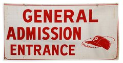 Phillies General Admission Sign From Connie Mack Stadium Hand Towel