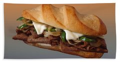 Philly Cheese Steak Customized  Hand Towel
