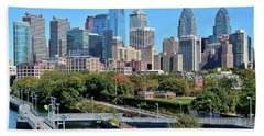 Philly Community Riverwalk Hand Towel by Frozen in Time Fine Art Photography