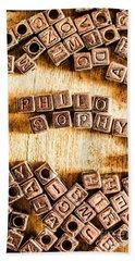 Philosophy Word Art Hand Towel