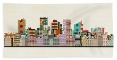 Phoenix Arizona Skyline Bath Towel