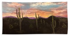Phoenix Az Sunset Hand Towel