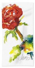 The Phoenix Rose Hand Towel