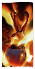 Phoenix Hand Towel by Jerry LoFaro