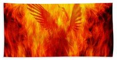 Phoenix Rising Hand Towel by Andrew Paranavitana