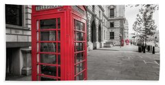 Phone Booths In London Hand Towel