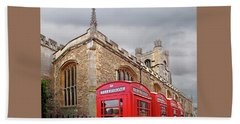 Bath Towel featuring the photograph Phone Home - Gt St Marys Church Cambridge by Gill Billington