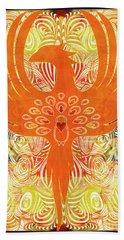 Phonix Rising Abstract Healing Art By Omashte Hand Towel