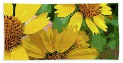 Yellow Wildflowers Photograph II Hand Towel