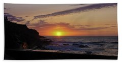 Photographer's Sunset Hand Towel by Terri Waters
