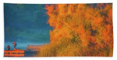 Photographing The Sunrise Hand Towel