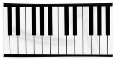 Piano And Music Background Hand Towel
